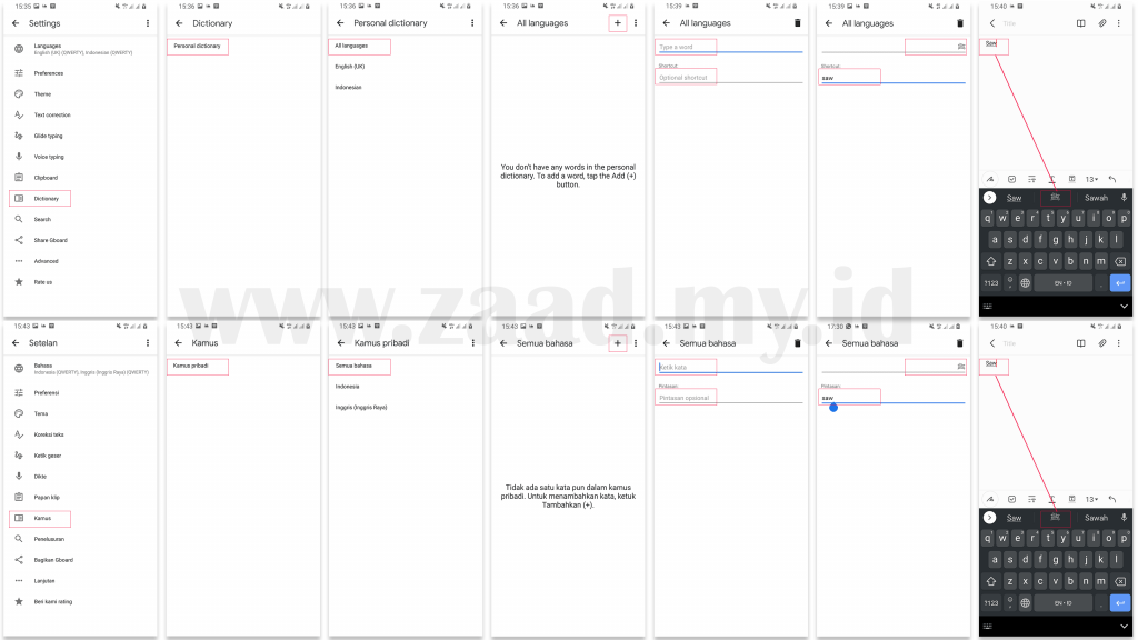 Tips Pintasan Keyboard Android, Menulis ﷺ di Google Keyboard (Gboard)