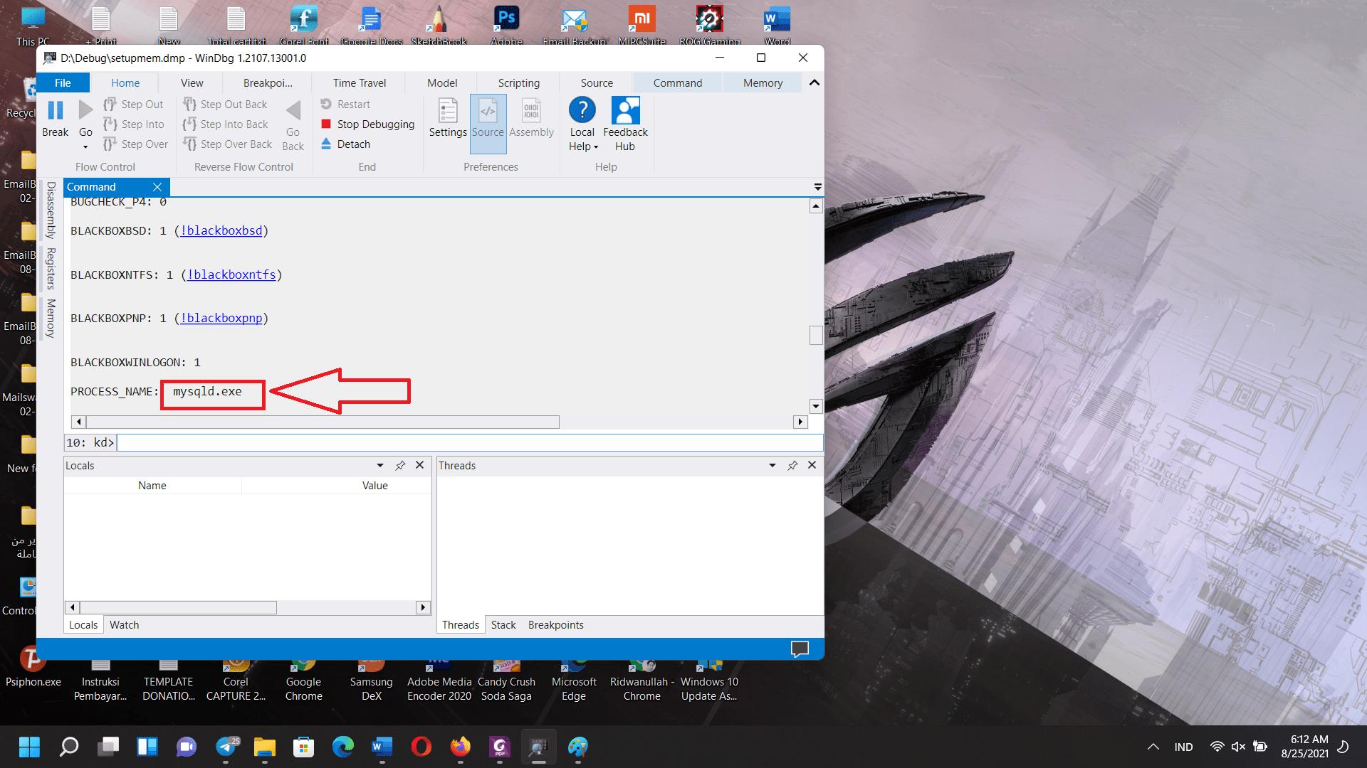 Update Windows error code: (0xc1900101), debugging process cases an error